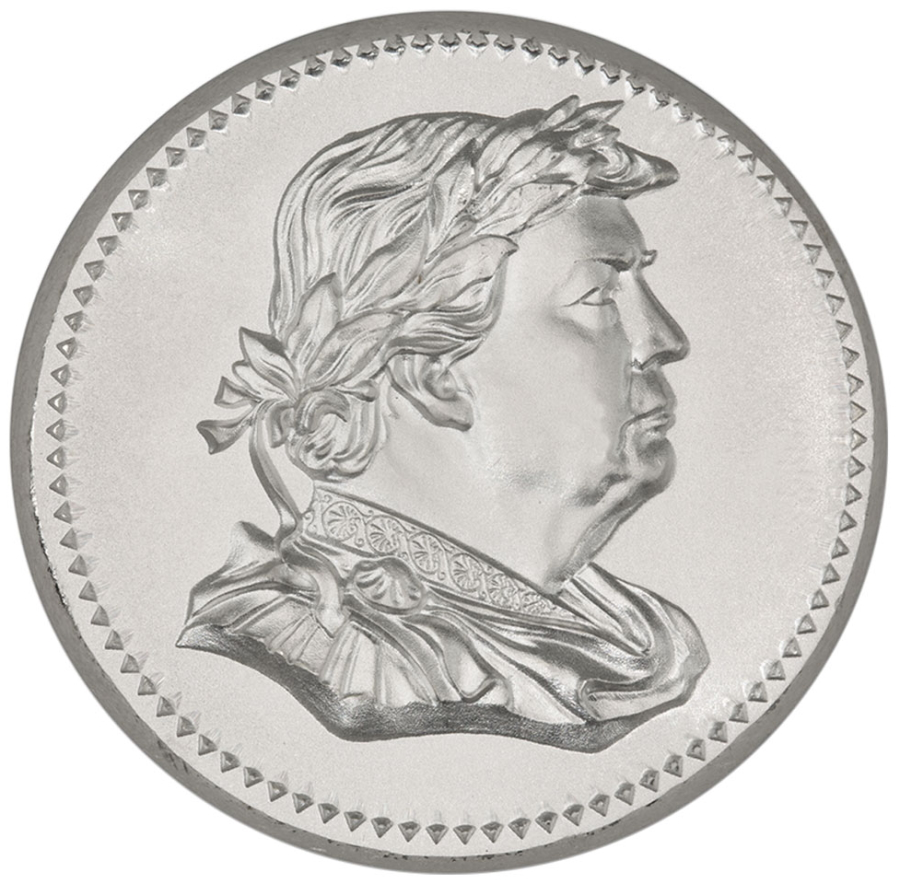 2 oz Trump Silver Round Ultra High Relief Ancient Tribute Series