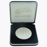 2015 1 oz American Silver Eagle Coin BU With US Mint Velvet Box