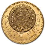 Gold Mexican 20 Pesos Coin .4823 oz