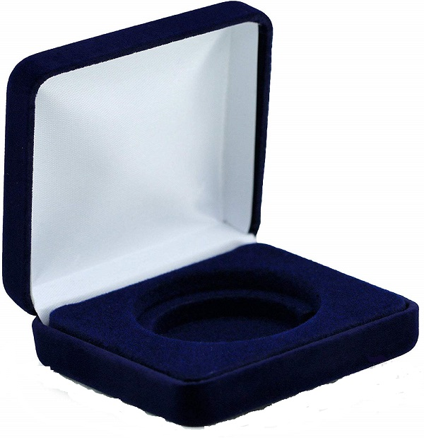 Blue Velvet Coin Box - H Size Direct Fit Holder