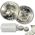 $10 Washington Quarters - 90% Silver 40-Coin Roll (BU)