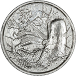 2 oz Silver Moby-Dick White Whale Ultra High Relief Silver Round