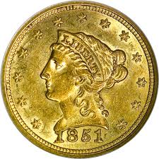 $2.5 Liberty Gold Coins 1840-1907