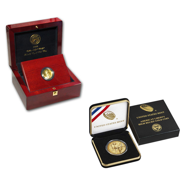 US Mint High Relief Gold Coins ( 2009 and 2015 )