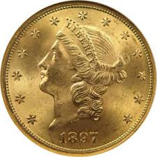 $20 Gold Liberty Coins 1849-1907