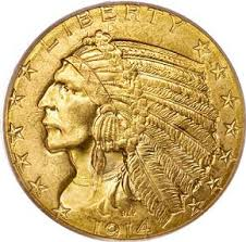 $5 Indian Gold Coins 1908-1929