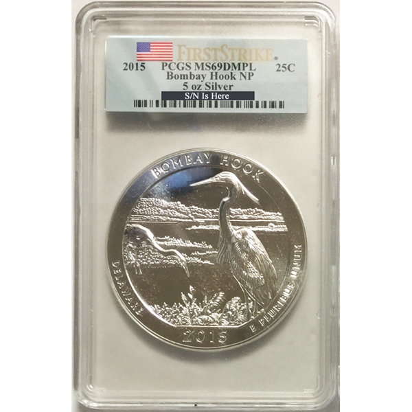PCGS Graded America the Beautiful 5 Ounce Silver Bullion