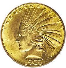 $10 Indian Gold Coins 1907-1933
