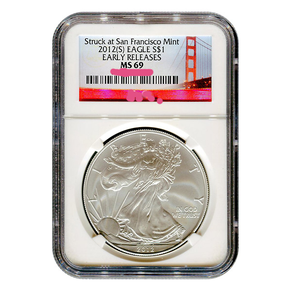Graded Silver Eagle Coins