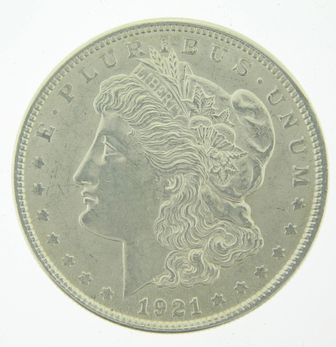 1921 Morgan Silver Dollar Coin BU - Click Image to Close
