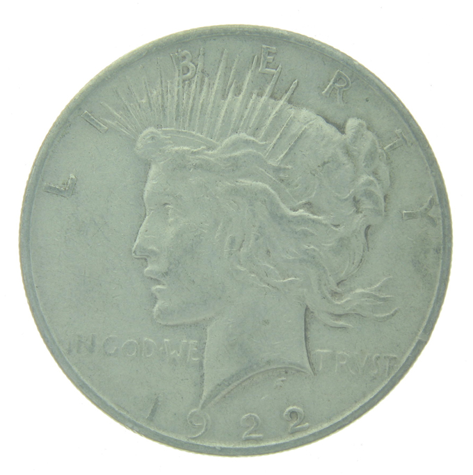 1922-D Peace Silver Dollar Circulated - Click Image to Close