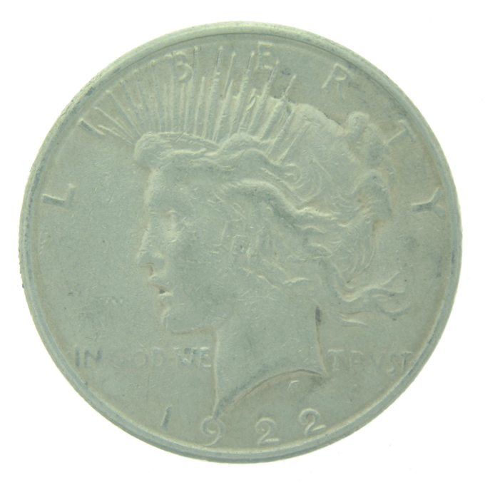 1922-S Peace Silver Dollar Circulated - Click Image to Close