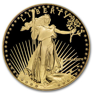 1986-W Proof 1 oz Gold American Eagle Coin With Box & COA - Click Image to Close