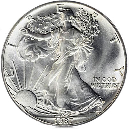 1997-1 Ounce American Silver Eagle in Anniversary Holder Dollar Uncirculated Us Mint