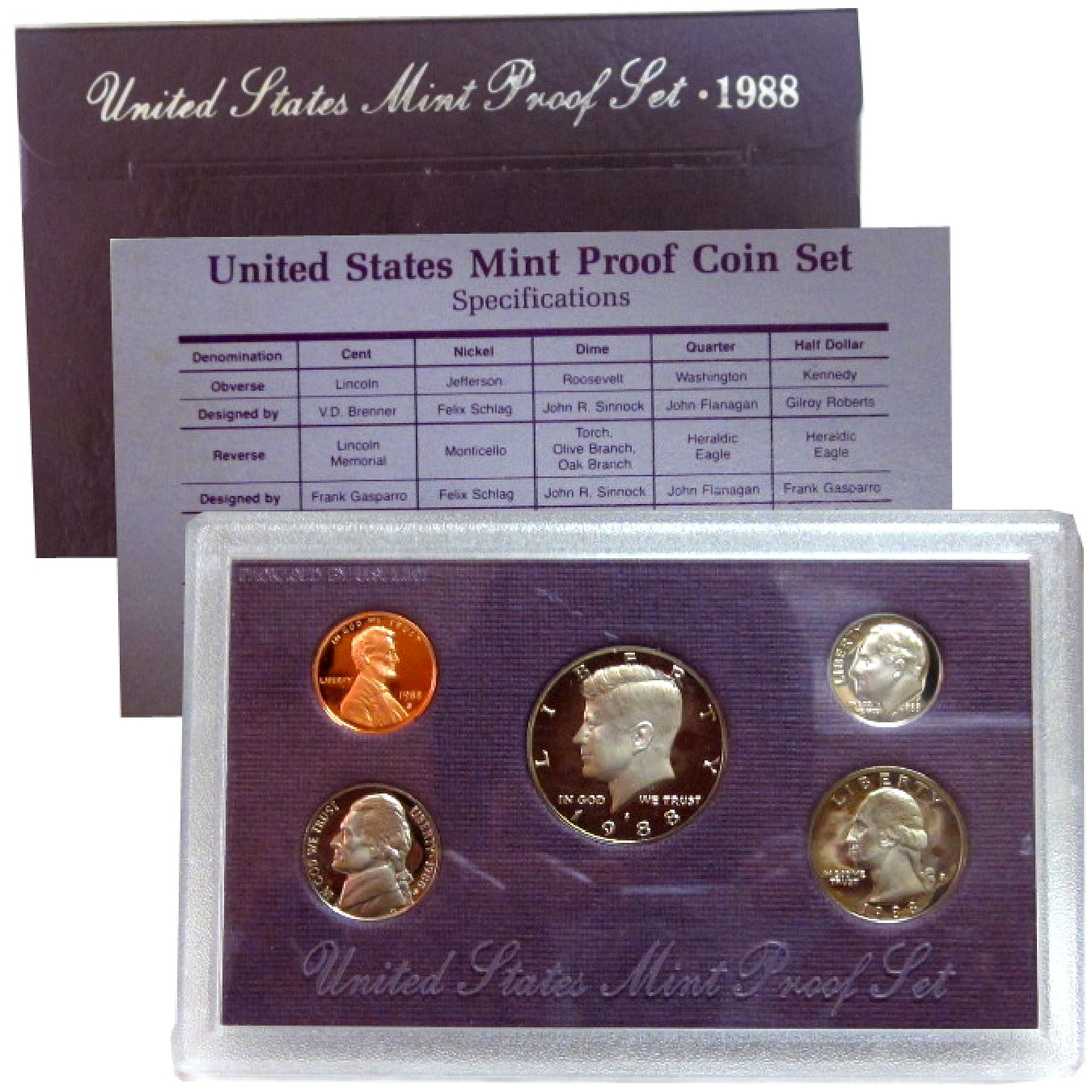 1988 US Mint Proof Set Coins - Click Image to Close