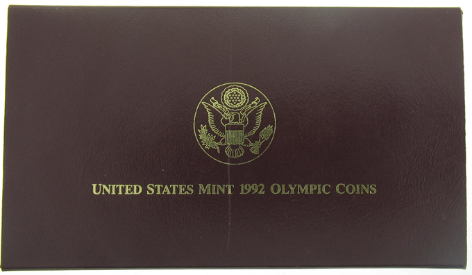 1992 US Mint Olympic 3 Proof Coin Set - Click Image to Close