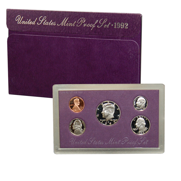 1992 US Mint Proof Set Coins - Click Image to Close