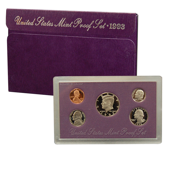 1993 US Mint Proof Set Coins - Click Image to Close
