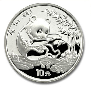 1994 1 Ounce Silver Chinese Panda Coin - Click Image to Close