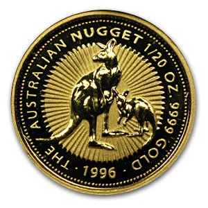 1996 1/20 Ounce Australian Gold Nugget