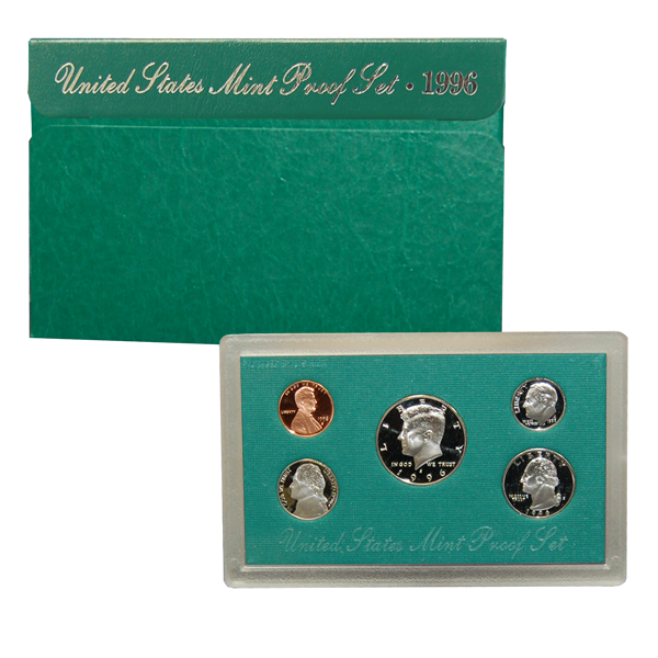 1996 US Mint Proof Set Coins - Click Image to Close