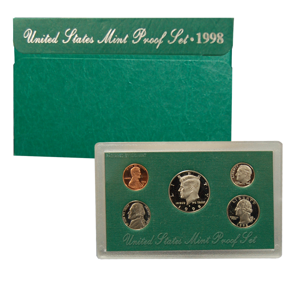 1998 US Mint Proof Set Coins - Click Image to Close