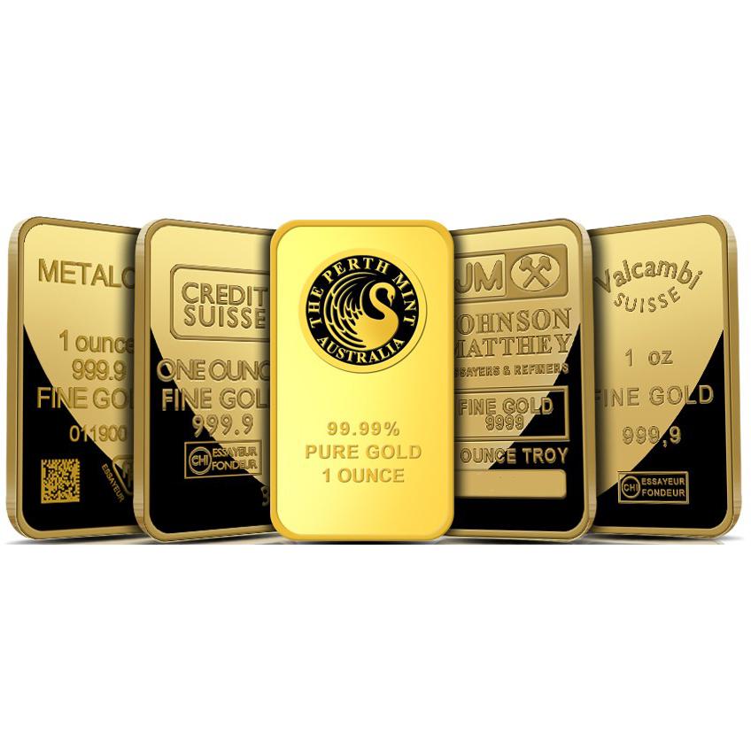 1 oz Gold Bar 9999 Fine Gold