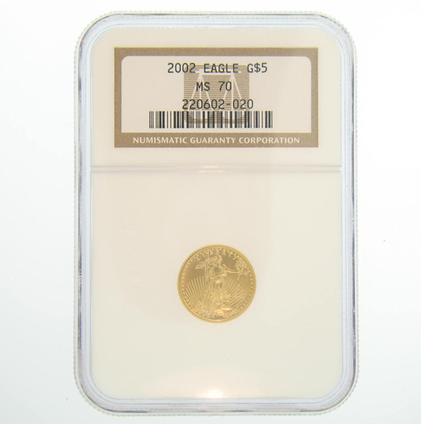 2000 1/10th oz NGC MS 70 Gold American Eagle Coin
