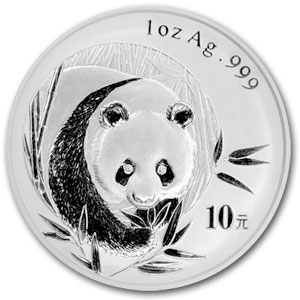 2003 1 Ounce Silver Chinese Panda Coin - Click Image to Close