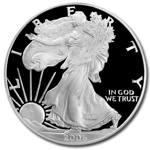 2006 W Proof American Silver Eagle Coin - Click Image to Close