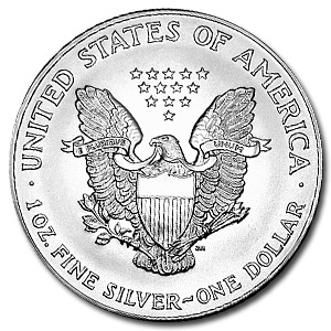 2007 1 oz American Silver Eagle Coin With Air-Tite Holder