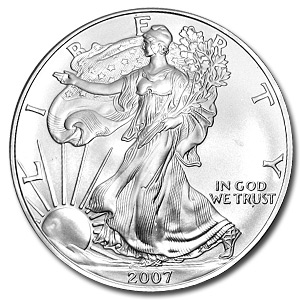 2007 1 oz American Silver Eagle Coin With Air-Tite Holder - Click Image to Close