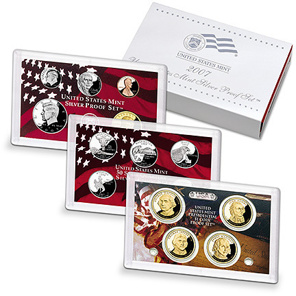 2007 Silver Proof Set Coins