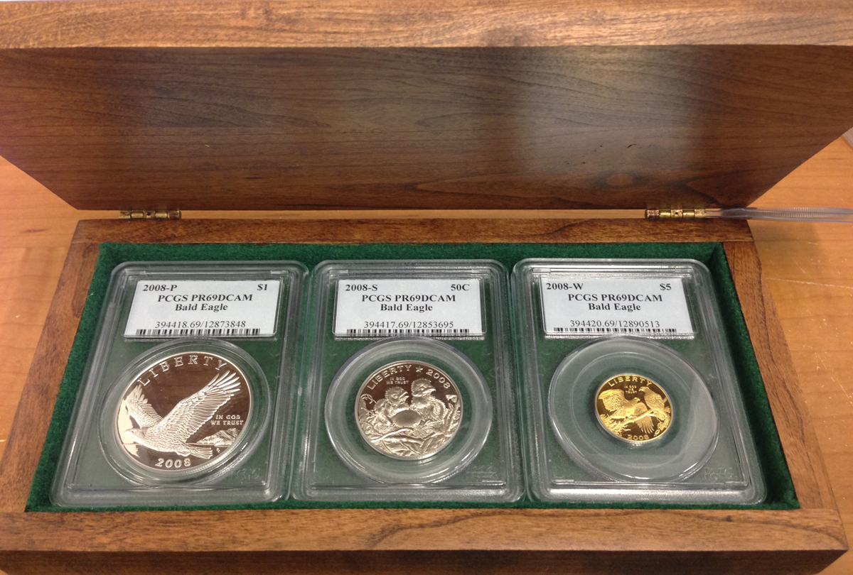 2008 US Bald Eagle 3-Coin Commemorative Set - Click Image to Close
