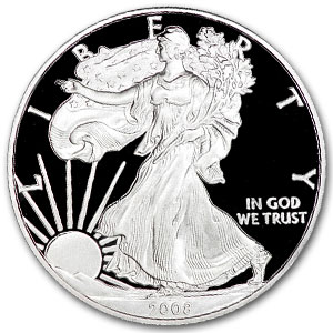 2008 W Proof American Silver Eagle Coin - Click Image to Close