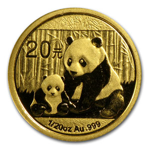 2012 1/20 Ounce Chinese Gold Panda Coin Sealed - Click Image to Close