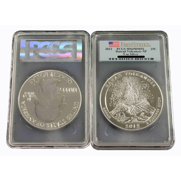 2012 5 Oz PCGS MS69 DMPL FS Hawaii Volcanoes National Park ATB - Click Image to Close