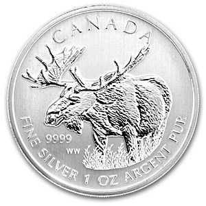 2012 Canadian Silver Moose Coins Wildlife Series With Air-Tites - Click Image to Close