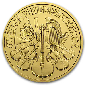 2012 1/4 oz Austrian Philharmonic Gold Coin - Click Image to Close
