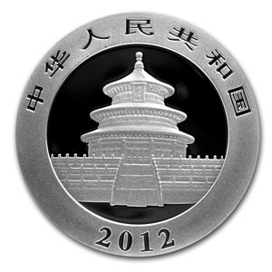 2012 1 Ounce Silver Chinese Panda Coin In Capsule - Click Image to Close