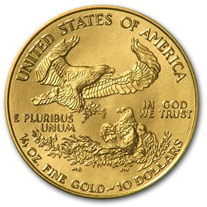 2013 1/4 oz Gold American Eagle Coin BU