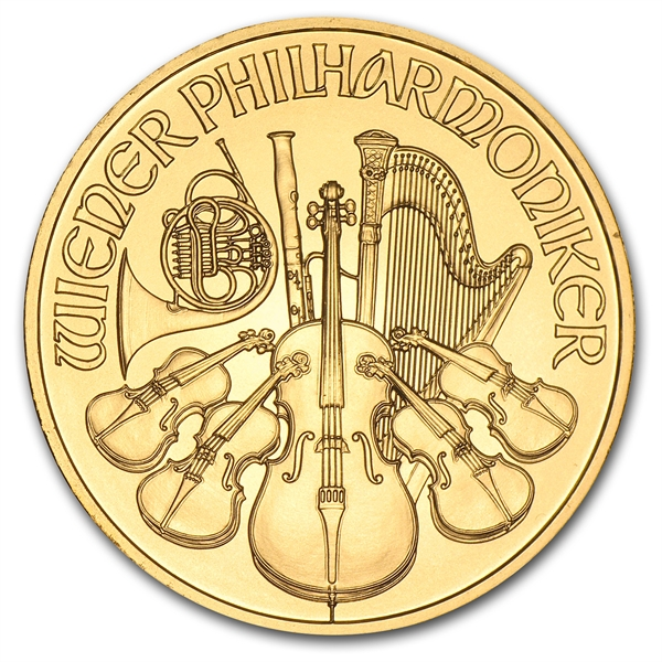 2014 1 oz Austrian Philharmonic Gold Coin