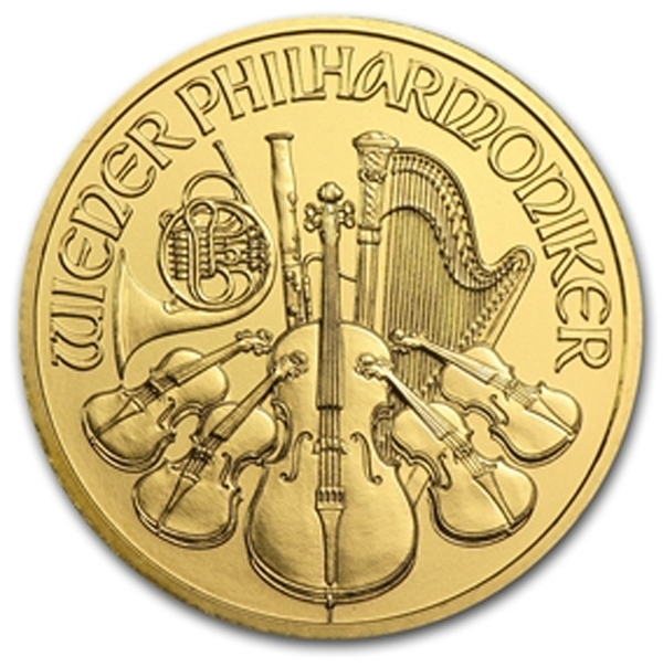 2014 1/2 oz Austrian Philharmonic Gold Coin