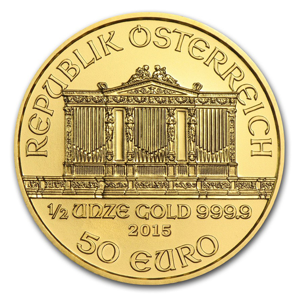 2015 1/2 oz Austrian Philharmonic Gold Coin [PHIL-HALF-2015] - $876 91 :  Aydin Coins & Jewelry, Buy Gold Coins, Silver Coins, Silver Bar, Gold