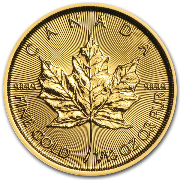 2017 1/10th oz Canadian Gold Maple Leaf Coin - Click Image to Close
