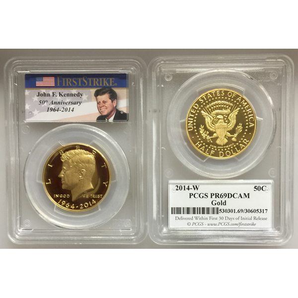 2014-W 3/4 oz Gold Kennedy Half Dollar PR-69 PCGS (First Strike)
