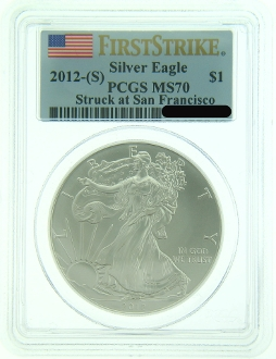 2012 San Francisco Mint American Eagle Silver Coin - Click Image to Close