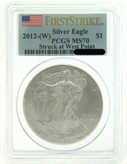 2012-W American Eagle Silver Coin FS PCGS MS70 - Click Image to Close