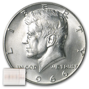 1965-1969 Kennedy Halves $10 40% Silver 20 Coin Roll AVG
