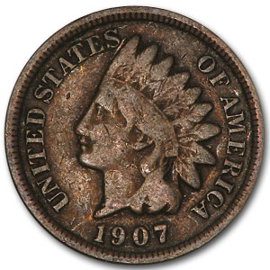 Indian Head Cents 50 Cent Roll From 1900-1909 Average Circulated - Click Image to Close